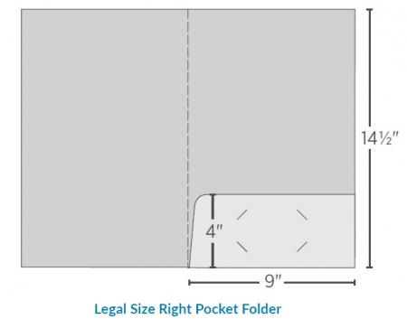 Legal Size Right Pocket Folder