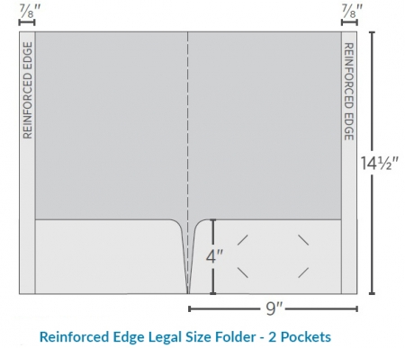 Reinforced Legal Folder - 2 Pockets