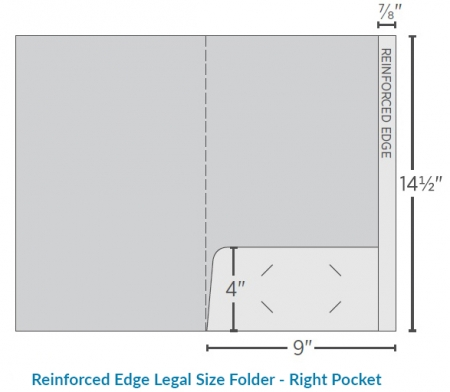 Reinforced Legal Folder-Right Pocket